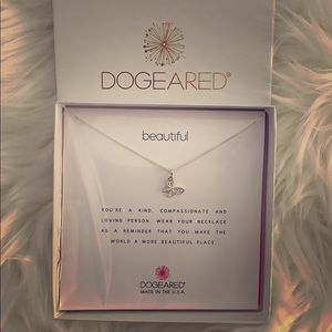 Dogeared necklace.